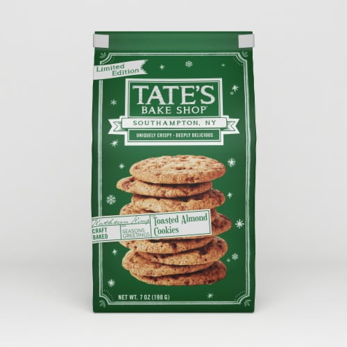 Tate's Bake Shop Toasted Almond Cookies Perspective: front