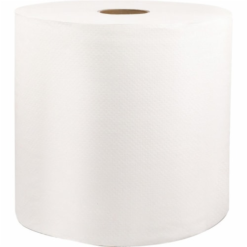 Solaris Paper SOL46528 8 in. x 1000 ft. Livi VPG Select Hard Wound Roll Towel - White - Fiber Perspective: front
