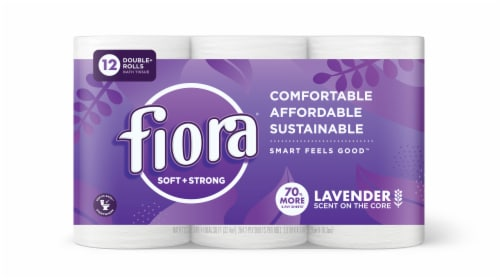 FioraLavender Scented Soft + Strong 2-Ply Toilet Paper Perspective: front
