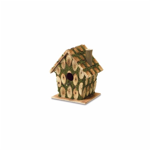 Zingz & Thingz Knotty Wood Birdhouse Perspective: front