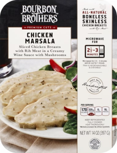 Bourbon Brothers All Natural Chicken Marsala Perspective: front