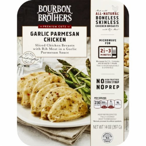Bourbon Brothers Garlic Parmesan Chicken Perspective: front