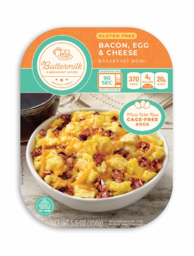 Buttermilk Bacon Egg & Cheese Gluten Free Breakfast Bowl Perspective: front