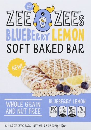 Zee Zees Blueberry Lemon Soft Baked Bars Perspective: front