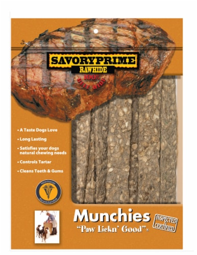 Savory Prime Chicken & Beef Munchie Strips Perspective: front