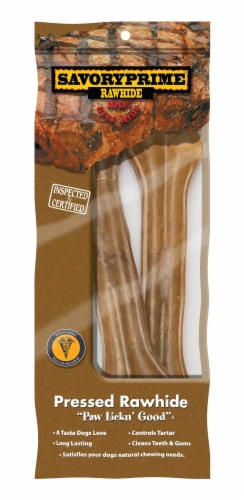 """Savory Prime 8.5"""" Beef Pressed Rawhide Perspective: front"""