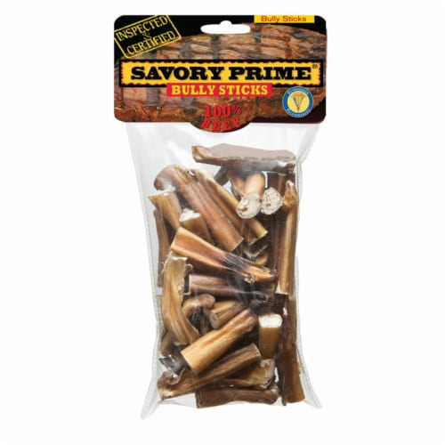 Savory Prime Natural Beef Grain Free Bully Stick For Dogs 4 oz. 1 pk - Case Of: 1; Perspective: front