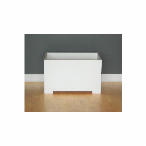 Sunscape- Inc. RP2M-White Rectangle Planter Box - Eco Friendly - White Perspective: front