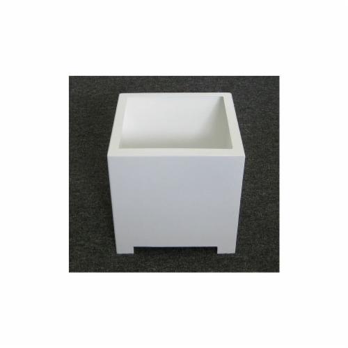 Sunscape SP1S-White Square Planter Box - White - Small Perspective: front