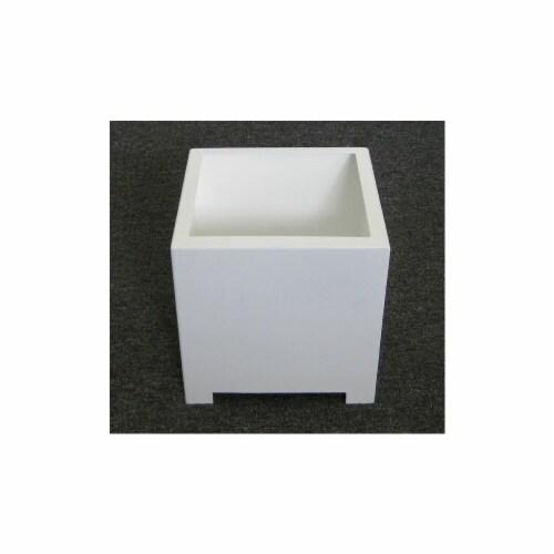 Sunscape SP1M-White Square Planter Box - White - Medium Perspective: front