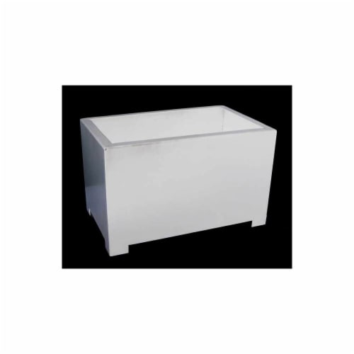 Sunscape RP1L-White Rectangle Planter - Large - White Perspective: front