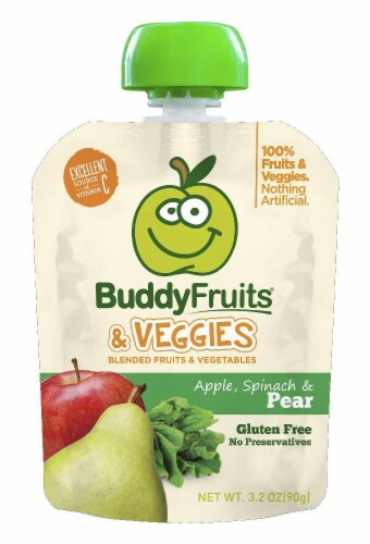 Buddy Fruits & Veggies Apple Spinach & Pear Blends Perspective: front