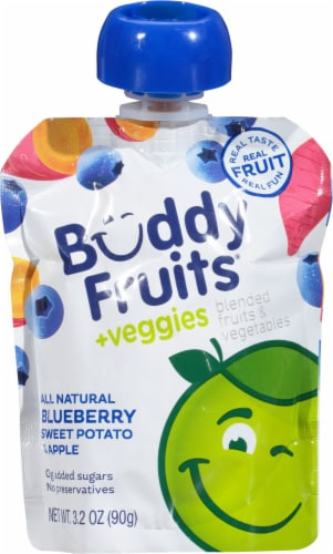 Buddy Fruits Apple Sweet Potato Blueberry Blend Perspective: front