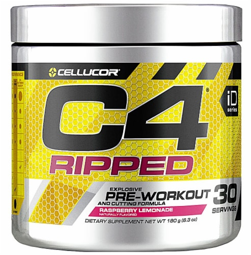 Cellucor  C4® Ripped Pre-Workout   Raspberry Lemonade Perspective: front