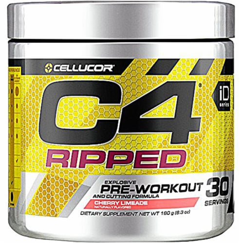 Cellucor  C4® Ripped Pre-Workout   Cherry Limeade Perspective: front