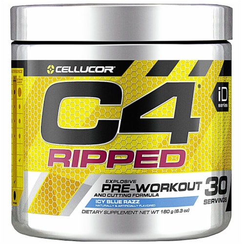 Cellucor  C4® Ripped Pre-Workout   Icy Blue Razz Perspective: front