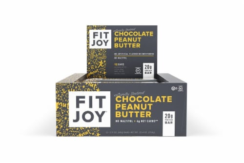FitJoy  Chocolate Peanut Butter Protein Bar Perspective: front