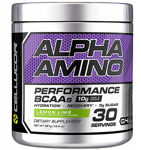Cellucor  Alpha Amino Performance BCAAs   Lemon Lime Perspective: front