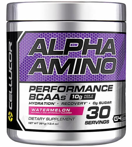 Cellucor  Alpha Amino Performance BCAAs   Watermelon Perspective: front