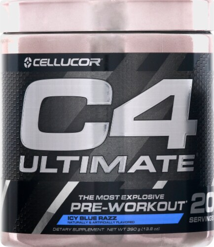 Cellucor C4 Ultimate Icy Blue Razz Pre-Workout Perspective: front