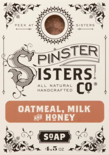 Spinster Sisters Co. Oatmeal Milk & Honey Bar Soap Perspective: front