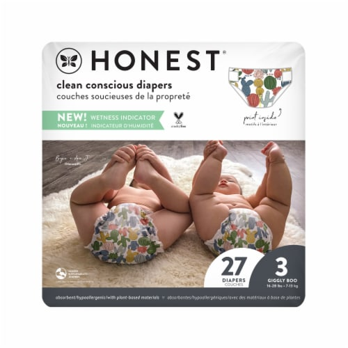 The Honest Company Honest Gentle & Absorbant Size 3 Diapers Perspective: front