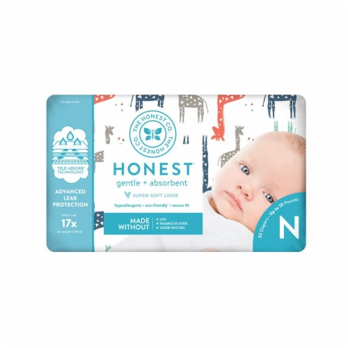 The Honest Company Honest Size 0 Giraffes Diapers Perspective: front