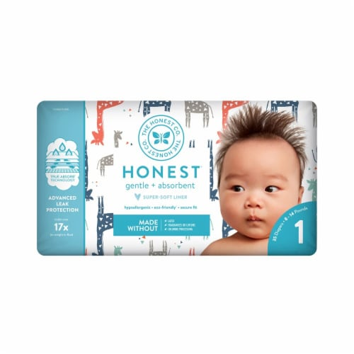 The Honest Company Honest Size 1 Giraffes Diapers Perspective: front