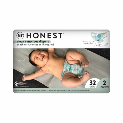 The Honest Co. Honest Size 2 Giraffes Diapers Perspective: front