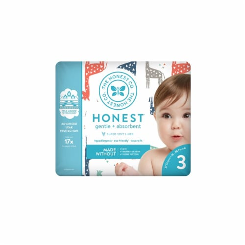 The Honest Company Honest Size 3 Giraffes Diapers Perspective: front