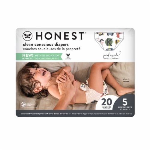 The Honest Company Honest Size 5 Giraffes Diapers Perspective: front