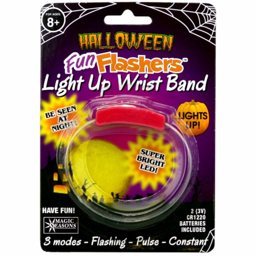 Magic Seasons Halloween Fun Flashers Light Up Wristband - Red Perspective: front