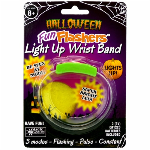 Magic Seasons Halloween Fun Flashers Light Up Wristband - Green Perspective: front