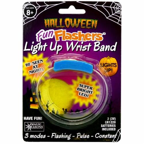 Magic Seasons Halloween Fun Flashers Light Up Wristband - Blue Perspective: front