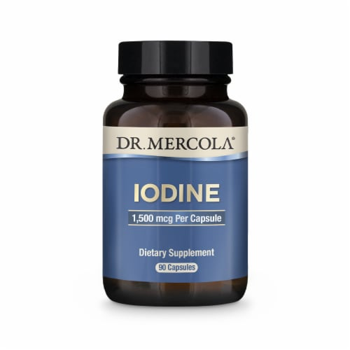 Mercola Iodine Supplement Capsules 1500 mcg Perspective: front