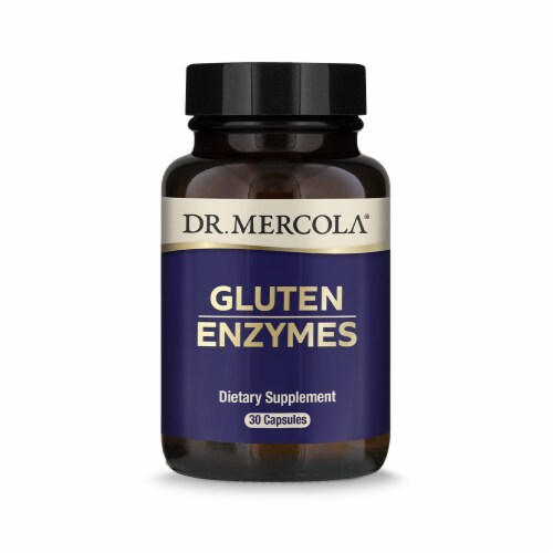 Mercola Gluten Enzymes Supplement Capsules Perspective: front