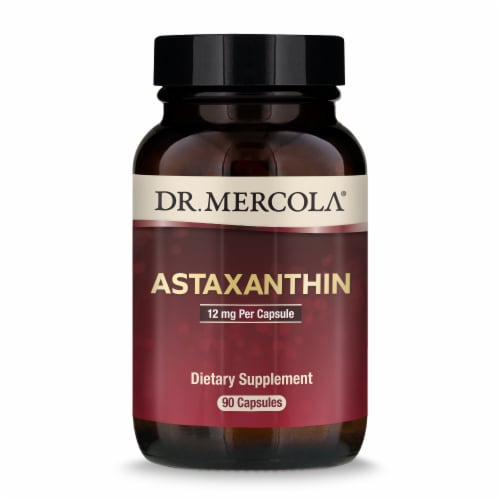 Mercola Organic Astaxanthin Supplement Capsules 12mg Perspective: front