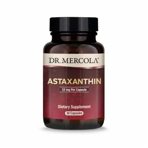 Mercola Organic Astaxanthin 12 mg Capsules Perspective: front