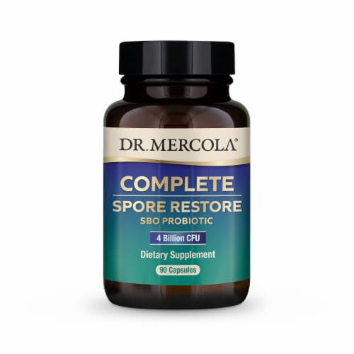 Mercola Complete Spore Restore SBO Probiotic Supplement Capsules Perspective: front