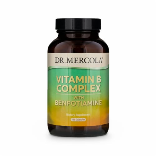 Mercola Vitamin B Complex Supplement Capsules Perspective: front