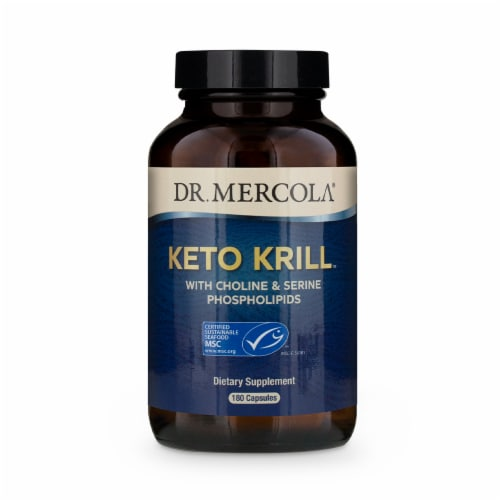 Mercola Keto Krill Supplement Capsules Perspective: front