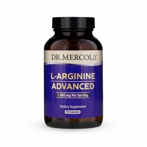 Mercola L-Arginine Advanced Supplement Capsules 1000mg Perspective: front