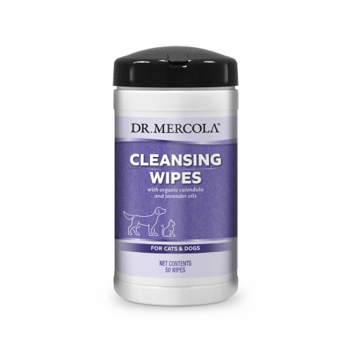 Mercola Cleansing Wipes for Cats & Dogs Perspective: front