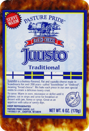 Pasture Pride Juusto Traditional Cheese Perspective: front