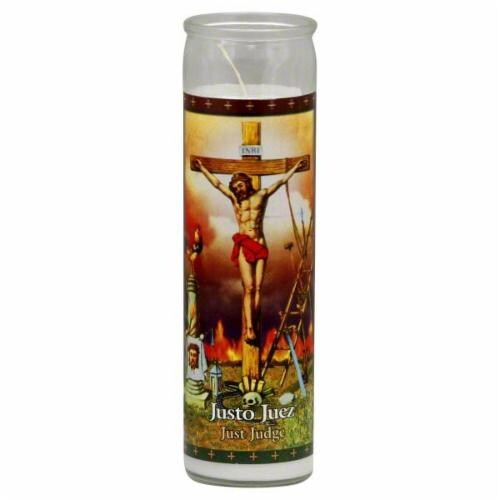 St. Jude Candle Company Justo Juez Candle Perspective: front