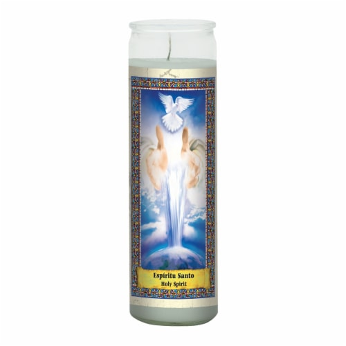 Eternalux Holy Spirit Glass Jar Candle - White Perspective: front