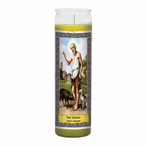St. Jude Candle Company St. Lazarus Candle - Yellow Perspective: front