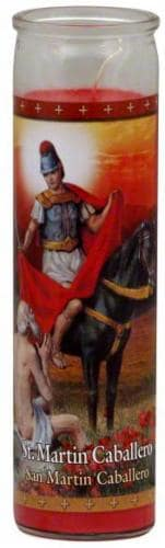 St. Jude Candle Company Saint Martin Caballero Candle - Red Perspective: front