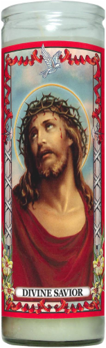 St.Jude Candle Company Divine Savior Candle Perspective: front