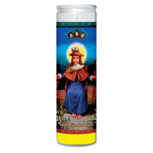 St. Jude Candle Company Holy Child of Atocha Candle - Yellow Perspective: front